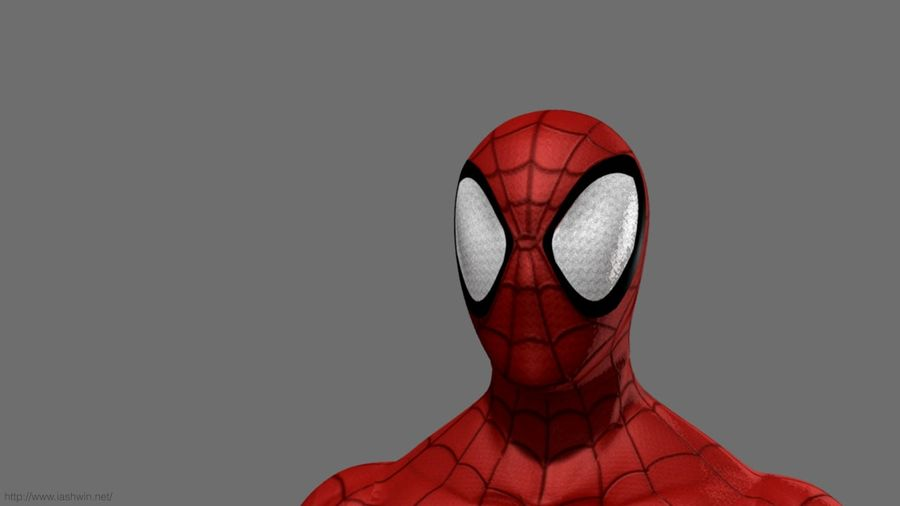 Spider-Man (Rig) royalty-free 3d model - Preview no. 2