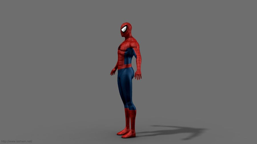 Spider-Man (Rig) royalty-free 3d model - Preview no. 5