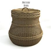 Pottery barn,  Lidded Barrel Basket. 3d model