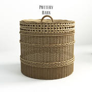 Pottery barn, Lidded Barrel Basket. - 2. 3d model