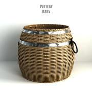 陶仓,木桶盖篮。 3d model