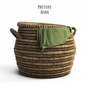 PotteryBarn, Lexine Round Lidded Basket. 3d model