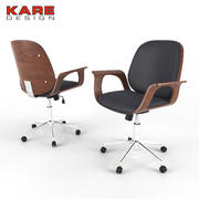 Kontorsstol Kare Design Patron Walnut 3d model