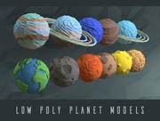 Niedrige Polyplaneten 3d model
