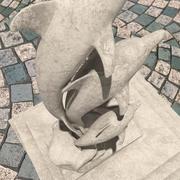 Rzeźba delfinów 3d model