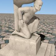 Farmer Sculpture & fountain 3d model