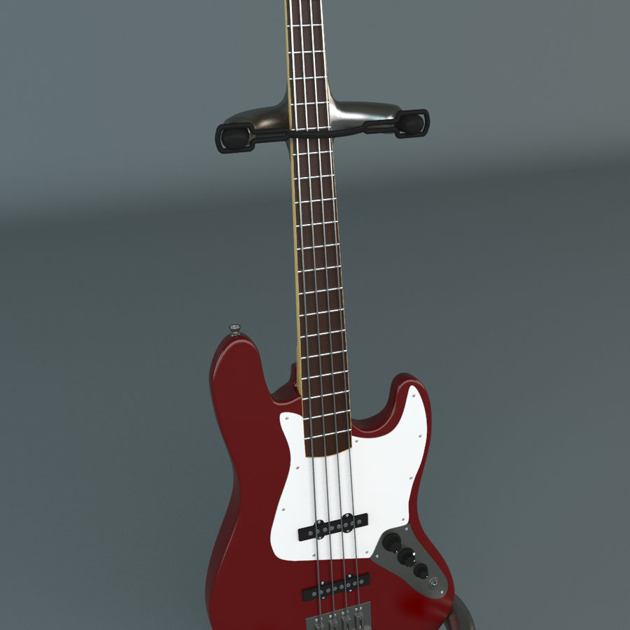 Fender Jazz Bass royalty-free 3d model - Preview no. 1