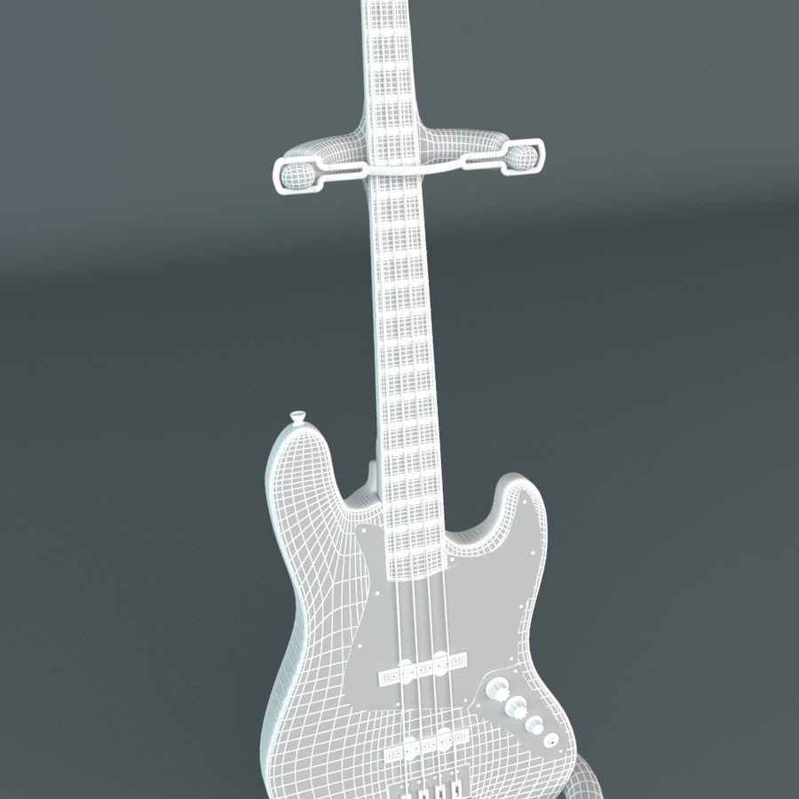 Fender Jazz Bass royalty-free 3d model - Preview no. 2