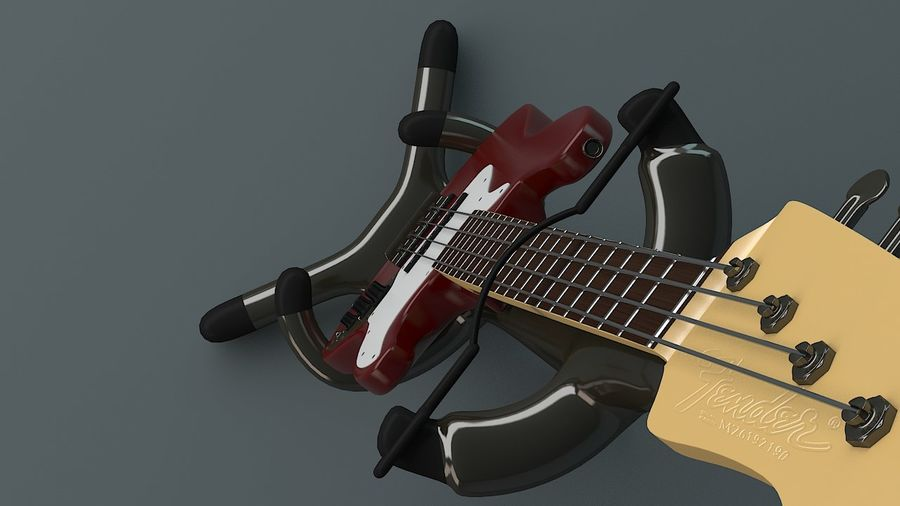 Fender Jazz Bass royalty-free 3d model - Preview no. 6