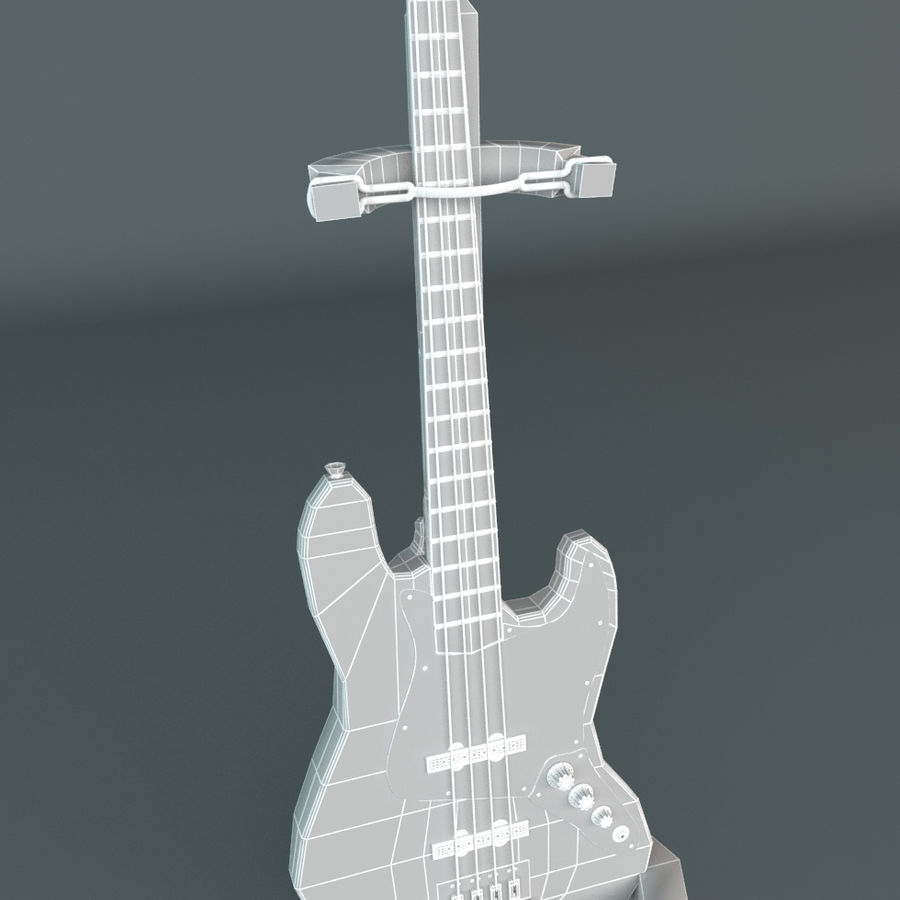 Fender Jazz Bass royalty-free 3d model - Preview no. 3