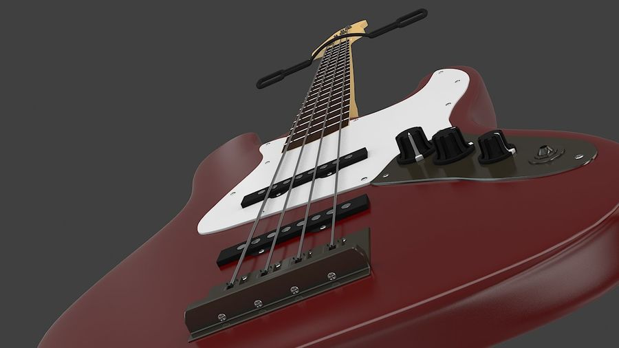 Fender Jazz Bass royalty-free 3d model - Preview no. 8