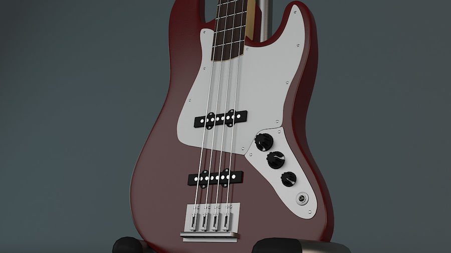 Fender Jazz Bass royalty-free 3d model - Preview no. 4