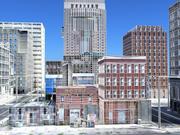 低聚市区城市市区 3d model