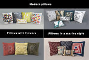 Modern pillows set 3d model
