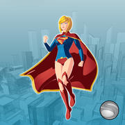 Super-Mädchen 3d model