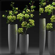 Flower vase set 4 3d model