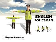 영어 경찰관 3d model