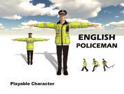 Poliziotto inglese 3d model
