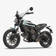 Generic Motorcycle 3D Model 3d model