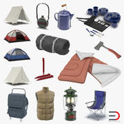 Camping Equipment 3D Models Collection 3d model