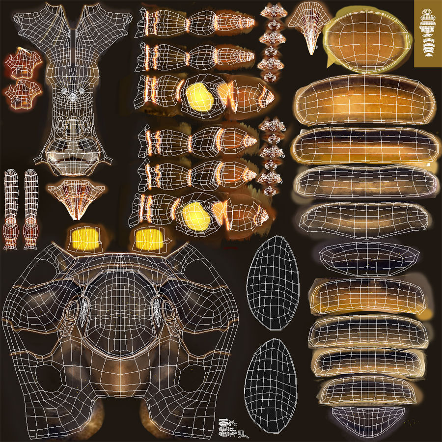Insects 3D Models Collection royalty-free 3d model - Preview no. 55