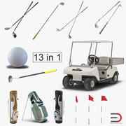 골프 장비 3D 모델 컬렉션 2 3d model
