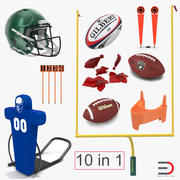 Football Equipment Collection 2 3d model