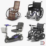 Инвалидные коляски Rigged 3D Models Collection 3d model