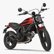 Motorcykel Ducati Scrambler Sixty2 riggad 3D-modell 3d model
