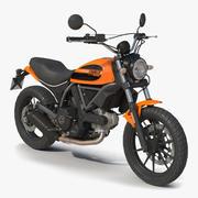 Ducati Scrambler Sixty2 3D-modell 3d model