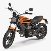 Ducati Scrambler Sixty2 riggad 3D-modell 3d model