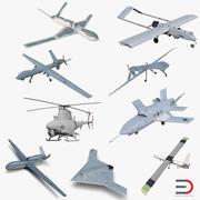 无人机3D模型集合3 3d model