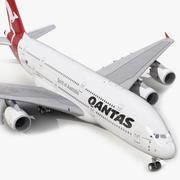Airbus A380-900 Qantas 3d model