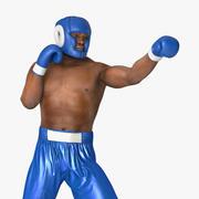 African American Boxer Pose 3 3D Model 3d model