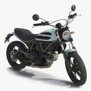 Generisk motorcykel riggad 3D-modell 3d model
