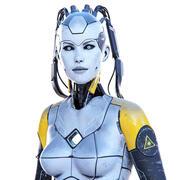角色女人机器人统一虚幻 3d model