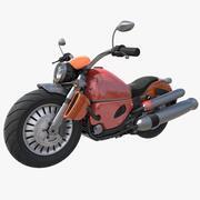 Harley Davidson attrezzata 3d model
