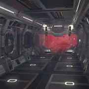 Sci-fi Zestaw do budowy wnętrza 3d model