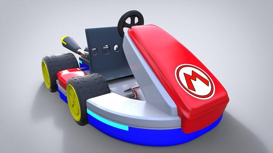 Mario Kart royalty-free 3d model - Preview no. 2