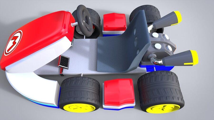 Mario Kart royalty-free 3d model - Preview no. 4