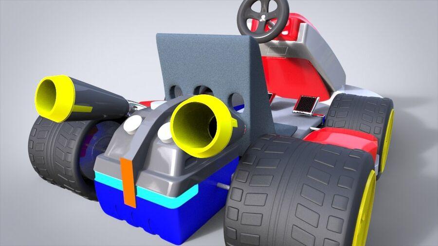 Mario Kart royalty-free 3d model - Preview no. 5