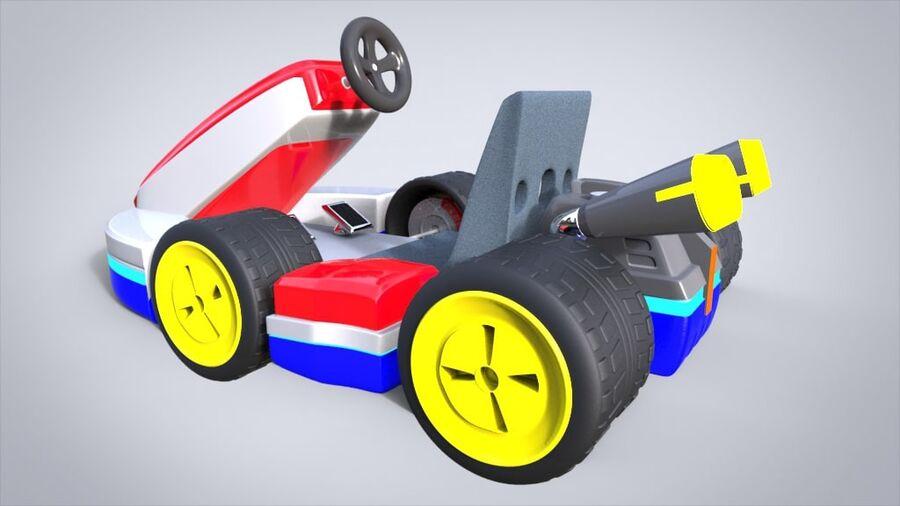 Mario Kart royalty-free 3d model - Preview no. 3