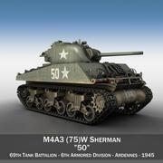 M4A3 75mm - Sherman - 50 3d model