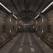 Couloir de science-fiction 3d model