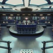 Starship Command Center High Poly PBR 3d model