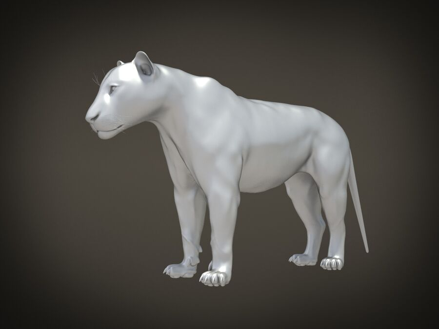 Lion The King Capelli testurizzati royalty-free 3d model - Preview no. 14