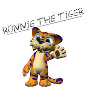 Ronnie The Tiger - Rigged! 3d model