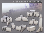 Costruttore di Stone Fort 3d model