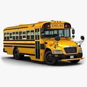 2015 Blue Bird Vision Schulbus 3d model