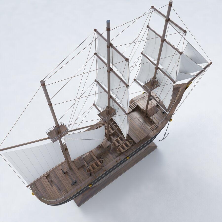帆船模型 royalty-free 3d model - Preview no. 7